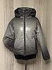 Демисезонная женская куртка модная из экокожи, фото 3