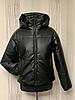 Демисезонная женская куртка модная из экокожи, фото 5