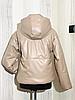 Демисезонная женская куртка модная из экокожи, фото 2