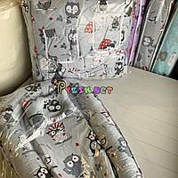 Набор для сна 11 предметов Постельное белье и гнездо-кокон с подушкой- бабочкой, цвет на выбор