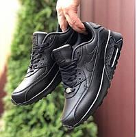 Мужские кроссовки Nike Air Max 90 black|Найк Аир Макс 90 черные, фото 1