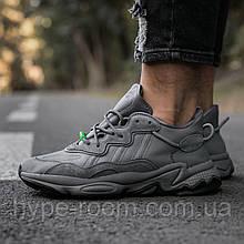 Женские Кроссовки Adidas ozweego Dark Grey Green адидас озвиго