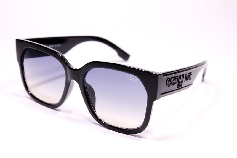 Женские солнцезащитные очки Диор 2049 C4 реплика Черные с градиентом