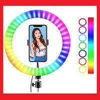 Кільцева LED лампа RGB MJ26 26см 1 крепл.тел USB