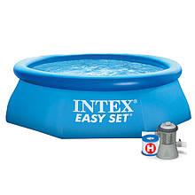 Надувной бассейн Intex 28108, 244-61см, с фильтр-насосом