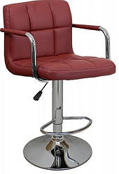 Барный стул со спинкой Bonro B-628-1 бордовый (40080041)