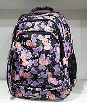 Рюкзак школьный для девочки в 2-4 класс ортопедический Принцессы Dolly 541 черный, фото 3