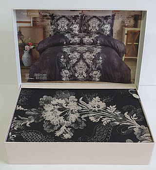 Постельное белье Maison D'or сатин 200х220 Anna Karenina Anthracite