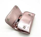 Стильний набір кісточок для макіяжу в гаманці Gold Glamur, 10 шт.  Якісні кисті для макіяжу в стилі Glamor., фото 7