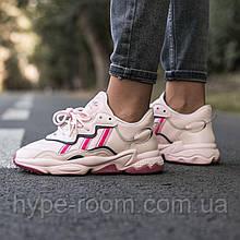 Женские Кроссовки Adidas ozweego Rose адидас озвиго