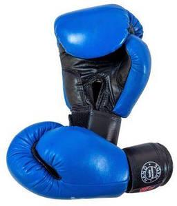Перчатки бокс 14 оz кожа Элит, синие BOXER