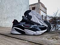 Мужские кроссовки BaaS Ploa Grey/Black серые с черным
