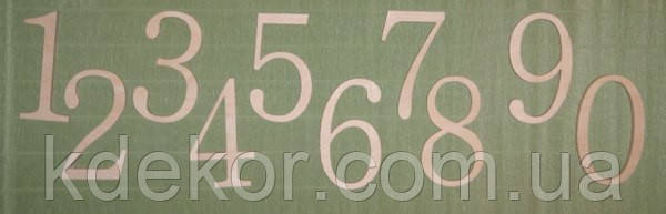 Цифры (высота 15см.) заготовка для декора