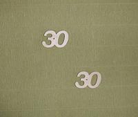 """Цифра """"30"""" (маленькая) заготовка для декора"""
