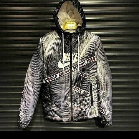 Чоловіча куртка вітровка Nike Black (утеплена)