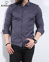Сувора сорочка кольору графіт приталеного силуету S, M, L, XL, XXL, фото 1