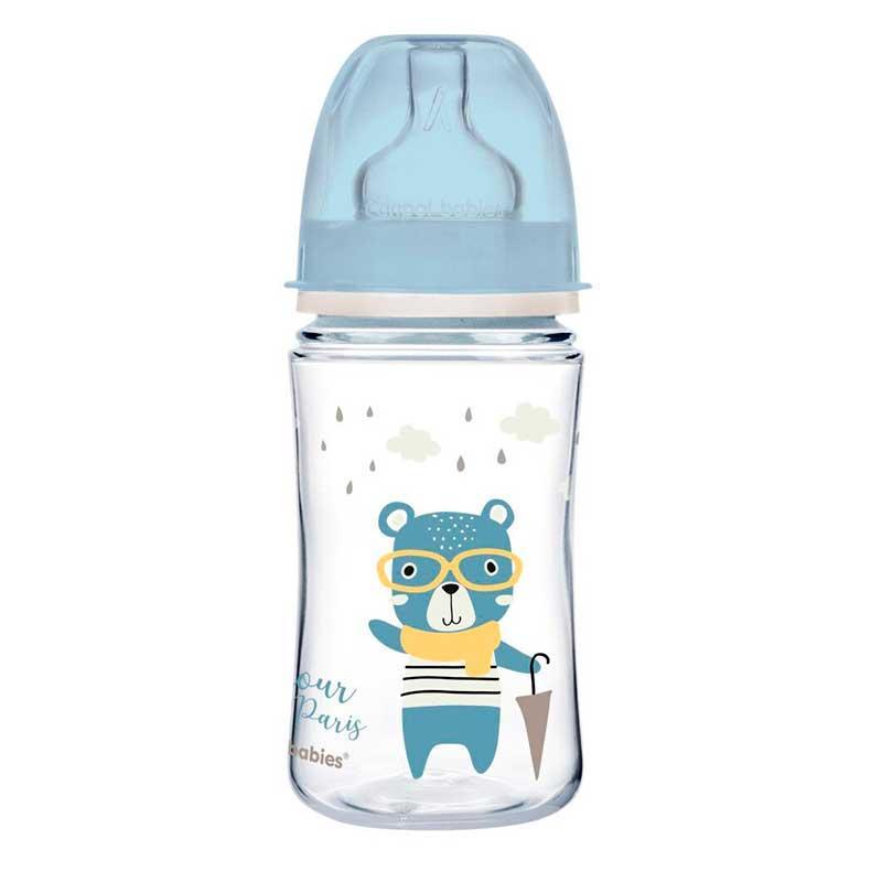 Пляшка антиколікова Canpol Babies 3м +, 240 мл, 35 /232_blu, Синя