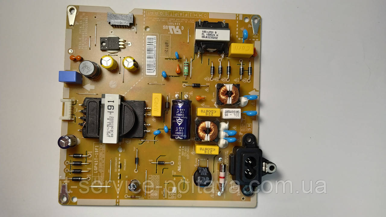 Блок живлення EAX68210401(1.7) LGP43T-19F1 телевізора LG 43LM6300PLA