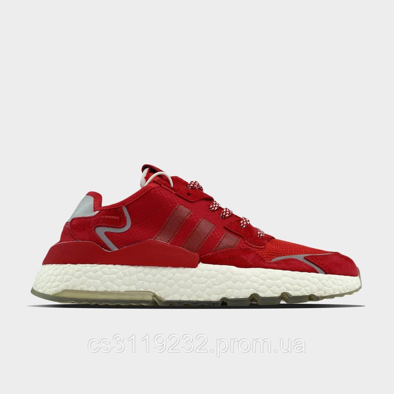 Чоловічі кросівки Adidas Nite Jogger Red White (червоно-білі)