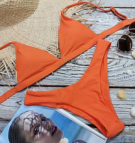 Купальник женский бикини классика оранжевый