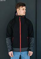 Куртка Staff soft shell nort black чёрный/серый LBL0139 S, 46