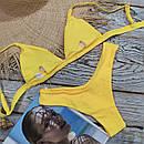 Купальник женский бикини классика желтый, фото 2