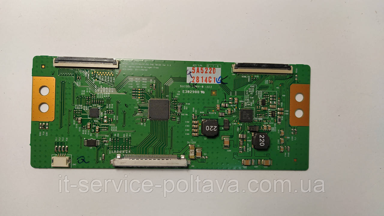 Плата T-CON 6870C-0401B ( FHD TM120 ver 0.2 )