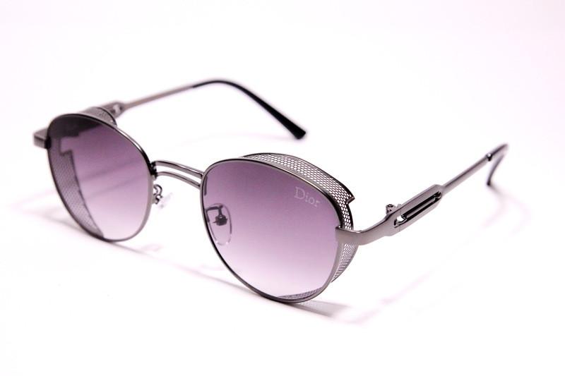 Женские солнцезащитные очки Диор 2162 C2 реплика Фиолетовые с градиентом