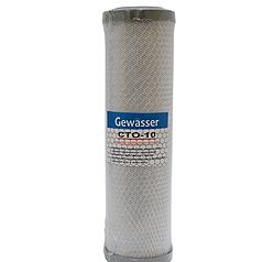 """Картридж для фільтра 10"""" Gewasser спечене вугілля 701623"""