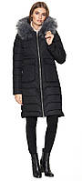 Куртка черного цвета зимняя женская модель 6617 (ОСТАЛСЯ ТОЛЬКО 50(L))