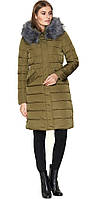 Куртка зимняя комфортная женская цвета хаки модель 8606 (ОСТАЛСЯ ТОЛЬКО 50(L))