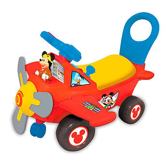 Дитяча каталка - чудомобіль музичний Міккі Маус: три в одному з підсвічуванням