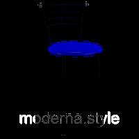 Стул полубарный Марко black кожзам синий для кухни, бара, ресторана