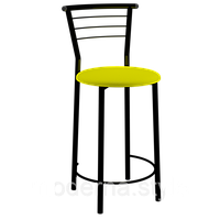 Стул 2301н полубарный Марко black кожзам желтый для кухни, бара, ресторана