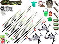 Универсальный набор для рыбалки, рыболовный набор крокодил, спиннинг в сборе с катушкой, фидер!
