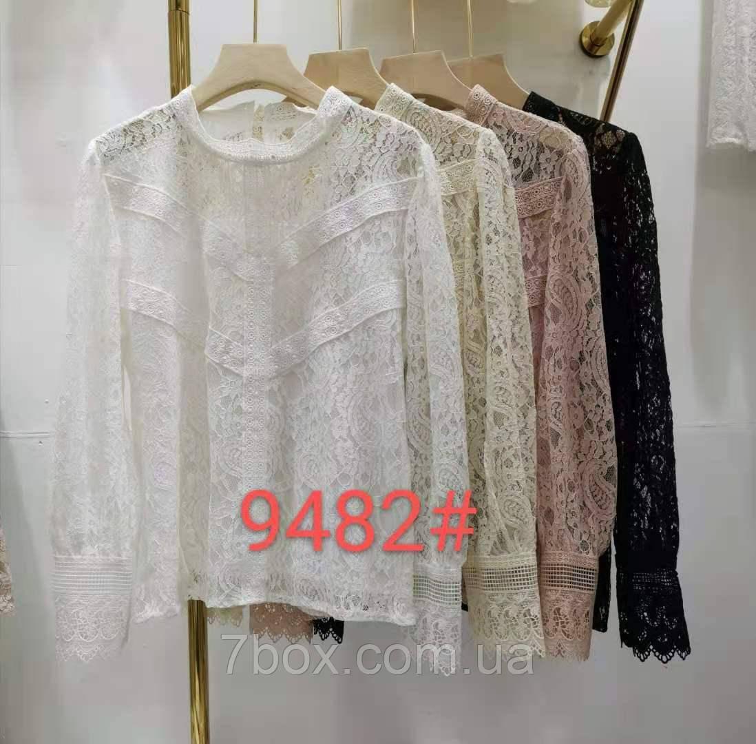 Женская блуза Кружевная Оптом р. М(42) L(44) ЛА9482