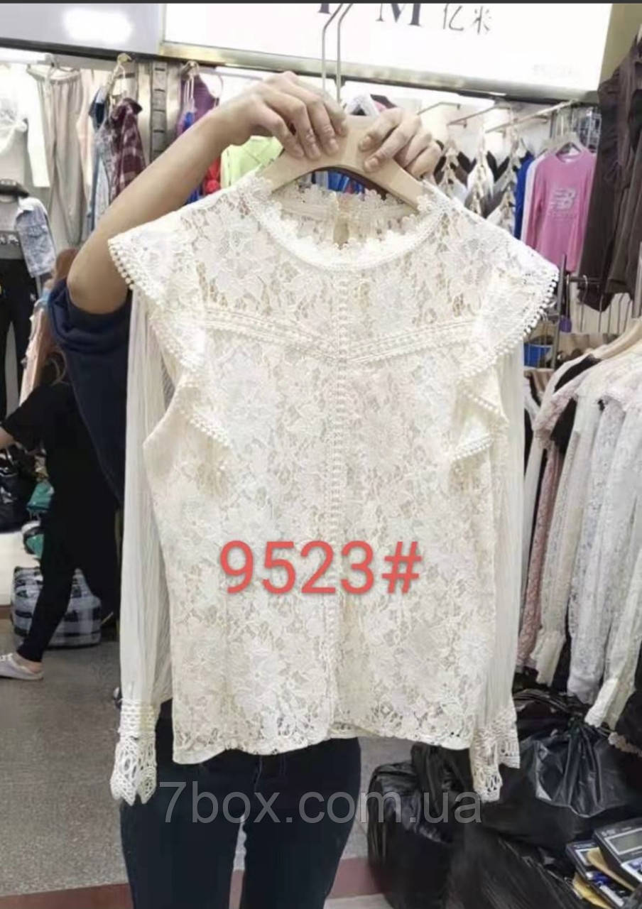 Женская блуза Кружевная Оптом р. М(42) L(44) ЛА9523