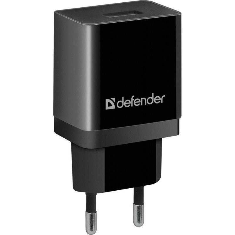 Мережевий зарядний пристрій Defender UPA-21 2.1 A Black