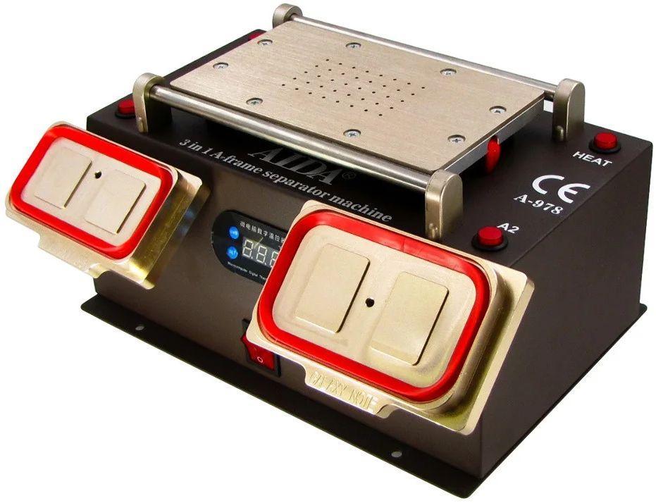 """Сепаратор вакуумный 8.5"""" Aida A-978 (19 х 11 см) 3 в 1, со встроенным компрессором для демонтажа дисплейных"""