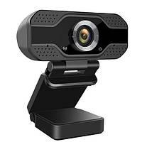 Веб-камера FullHD Dynamode W8 USB микрофон штатив в компл. чёрн. новая