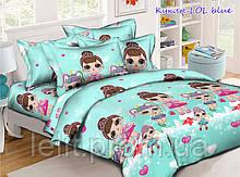 Комплект постельного белья Куклы LOL blue