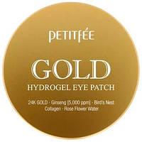 Гидрогелевые патчи для глаз, золото, Petitfee, 60 шт.