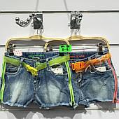 Подростковые джинсовые шорты для девочек оптом H&H 8--16лет