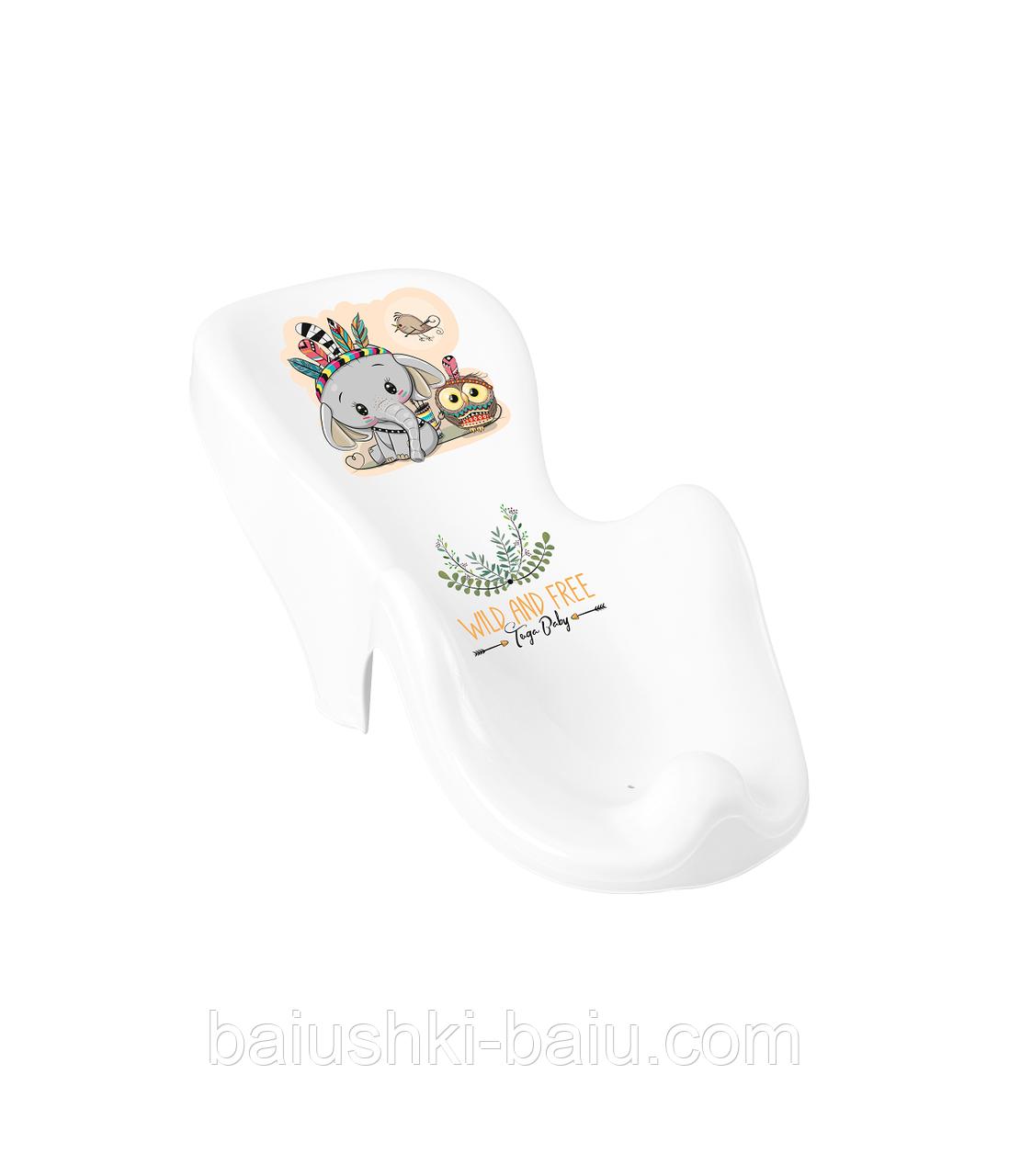 Горка для ванной на присосках для купания новорожденного, Tega