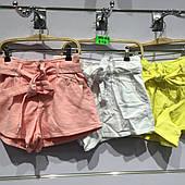 Подростковые котоновые летние шорты для девочек оптом H&H 8---16лет