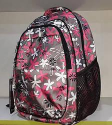 Рюкзак школьный для девочки ортопедический на 2 отдела Dolly 535 розовый с принтом Ромашки