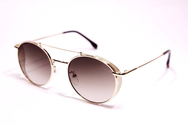 Жіночі сонцезахисні окуляри Діор 2A97 C4 репліка Коричневі з градієнтом, фото 2
