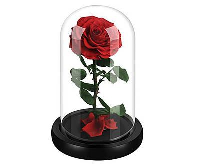 Роза в колбе с Led A78 Большая Красная 182501