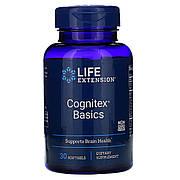 Поддержка памяти и когнитивной функции, Cognitex Basics, Life Extension, 30 гелевых таблеток