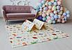 Дитячий килимок для повзання Children GO 180* 150 , двосторонній, з малюнками і текстурним покриттям, фото 9
